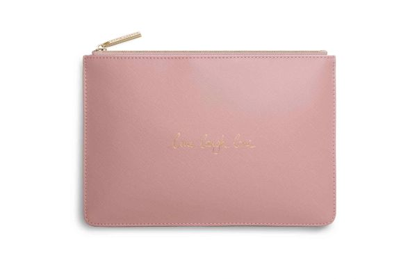 LIVE LAUGH LOVE PERFECT POUCH PERFECT PINK by Katie Loxton