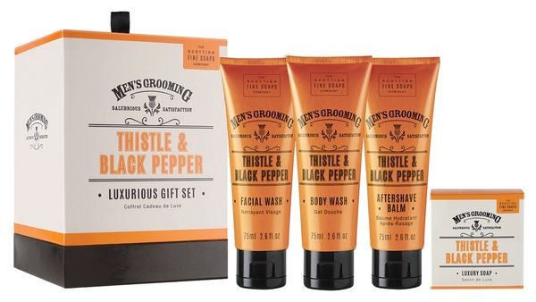 Thistle & Black Pepper Luxurious Gift Set by Scottish Fine Soaps
