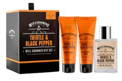 Scottish Fine Soaps Thistle And Black Pepper Well Groomed Gift Set