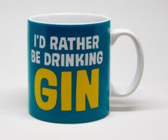 I'd Rather Be Drinking Gin Funny Mug by Dean Morris Cards