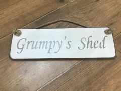 'Grump's Shed' Sign by Austin Sloan