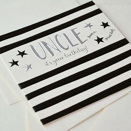 Uncle Birthday Card Q896