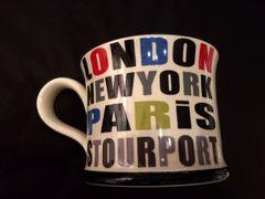 London - New York - Paris - Stourport Mug by Moorland Pottery