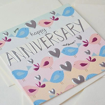 Birds Anniversary Card Q827