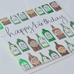 Happy Birthday Beer Bottles