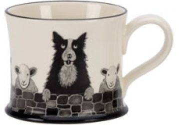 Sheep Dog Mug by Moorland Pottery