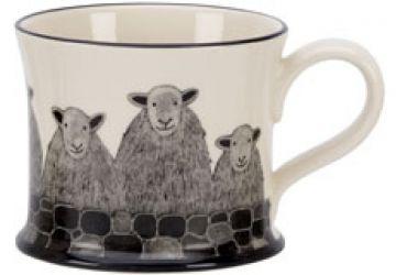Sheep Herd Mug by Moorland Pottery