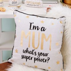 METALLIC MONOCHROME I'M A MUM CUSHION