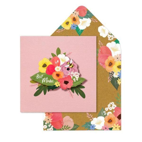 Best Mum Flowers Card