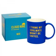 CLOUD NINE gift boxed 'I think my soulmate...' Mug