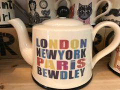 London, New York, Paris, BEWDLEY Teapot by Moorland Pottery