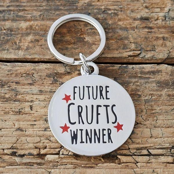 """FUTURE CRUFTS WINNER"" DOG ID TAG by Sweet William"