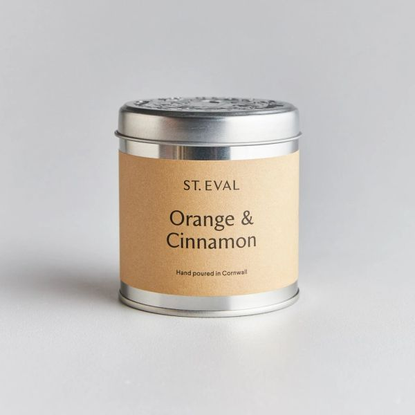 Orange & Cinnamon Candle Tin