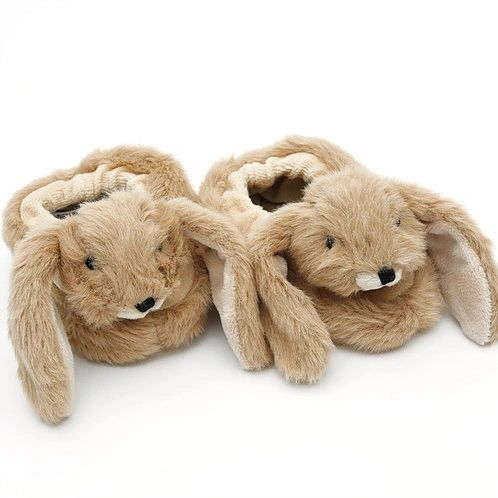 Bunny Baby Slippers Brown gift boxed