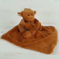 Highland Coo Toy Soother