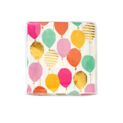 Luxe Gold Balloon Pattern Cocktail Napkin