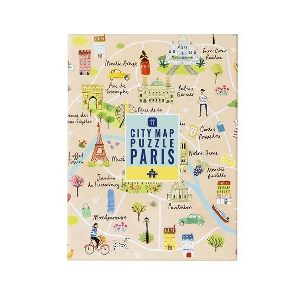 Map Puzzle Paris