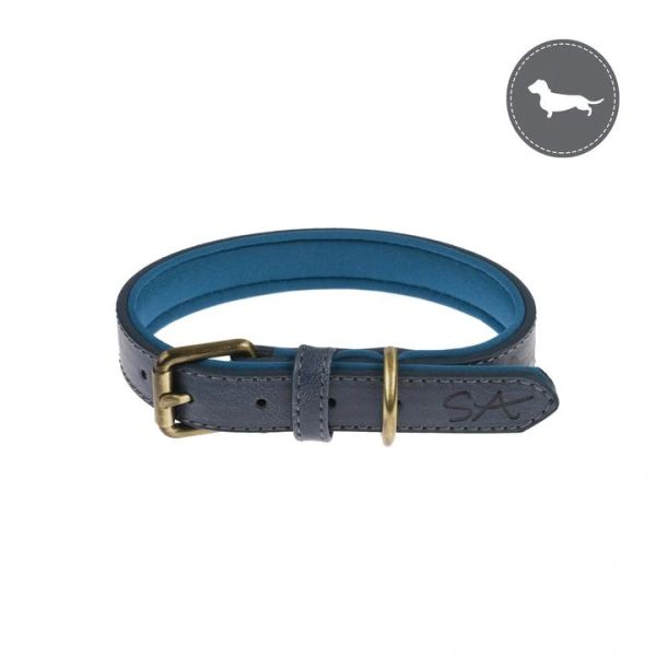 Teal Dog Collar - Dashound