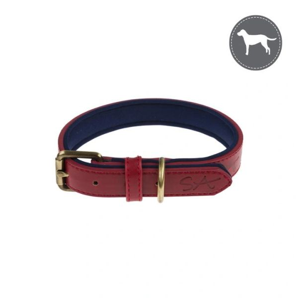 Red Dog Collar - Lab Stamp
