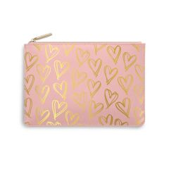 PERFECT POUCH - HEART PRINT - PINK
