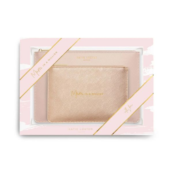 PERFECT POUCH GIFT SET   MUM IN A MILLION   PINK