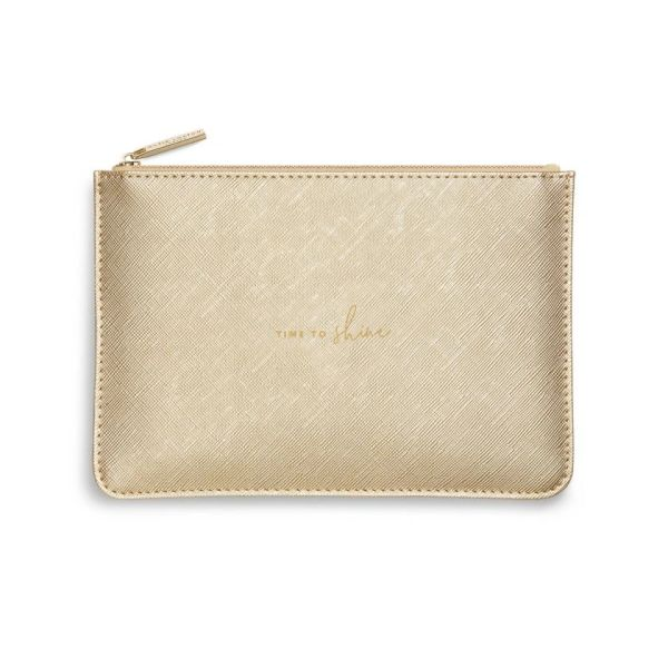 PERFECT POUCH | TIME TO SHINE | METALLIC GOLD