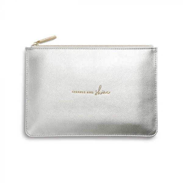 PERFECT POUCH | SPARKLE AND SHINE | METALLIC SILVER