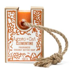 Agnes + Cat 150g Soap On A Rope - Clementine