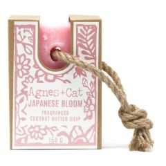 Agnes + Cat 150g Soap On A Rope - Japanese Bloom