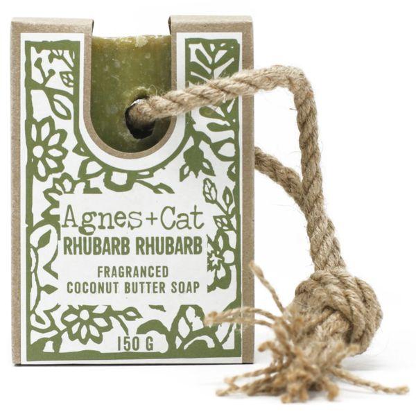 Agnes + Cat 150g Soap On A Rope - RHUBARB RHUBARB