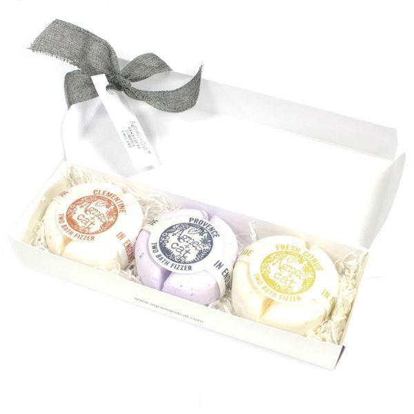 Agnes + Cat Bath Fizzer Gift Box - Provence + Clementine + Fresh Citrus