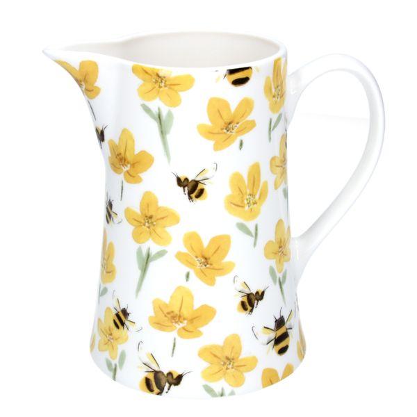 Ceramic Bee & Buttercup Jug - Medium