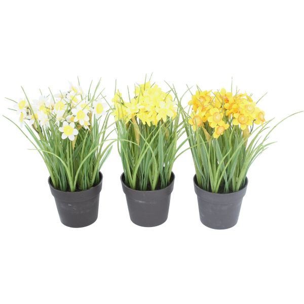 Faux Daffodils in Pots - choose