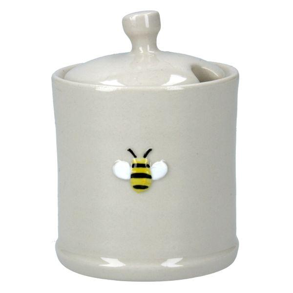Ceramic Bee Honey / Jam Pot with Lid