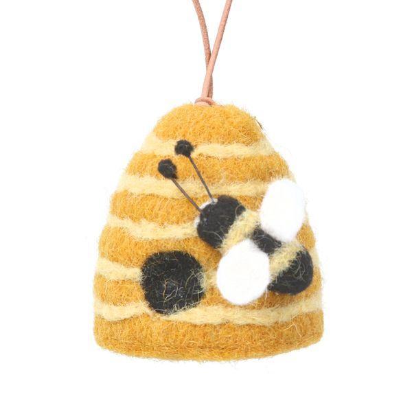 Beehive Wool Mix Decoration 9cm