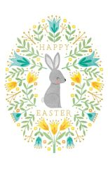 Art File Happy Easter Bunny Pack of 6 Cards