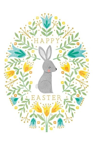 Art File Happy Easter Bunny Pack of 6 Cards AFE42