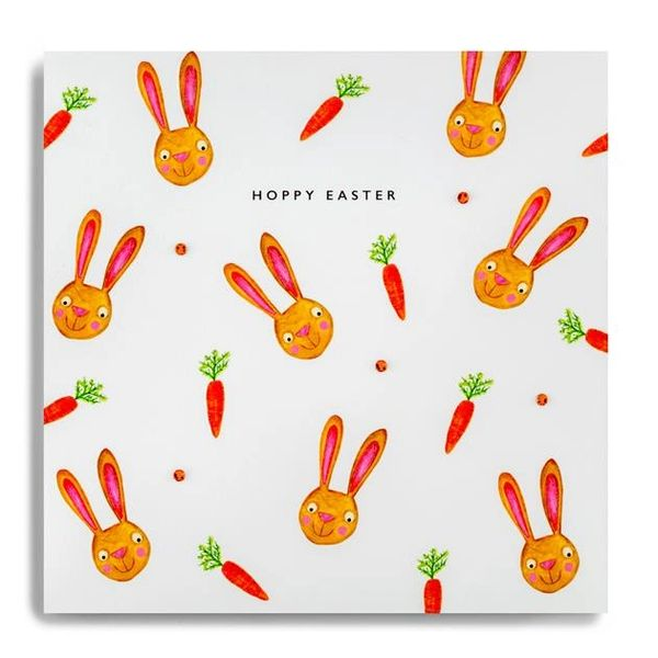 Hoppy Easter Easter Bunnies/Carrots Individual Card