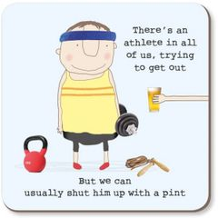 Athlete Pint Coaster by Rosie made a thing