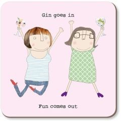 Gin Goes In Coaster by Rosie made a thing