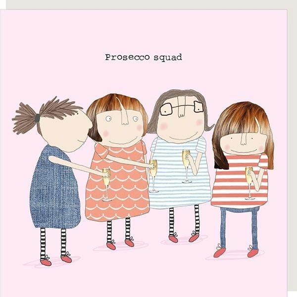 Prosecco Squad Card by Rosie made a thing