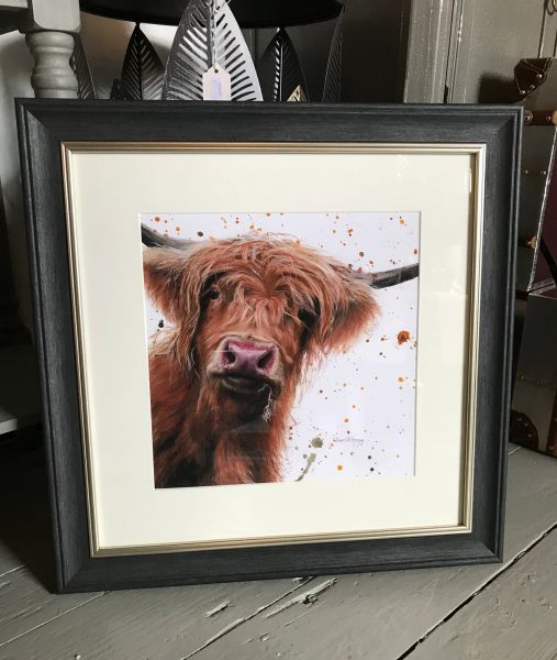 Betsy with splats Framed Print
