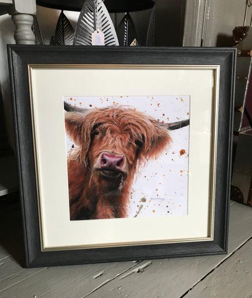 Betsy with splats Framed Print