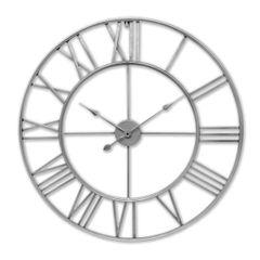 Large Silver Skeleton Wall Clock