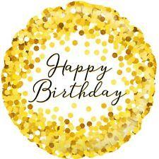 Gold Happy Birthday Balloon