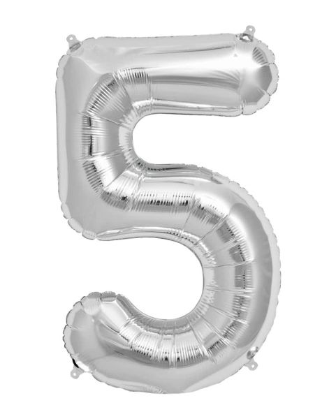Giant Number 5 Balloon