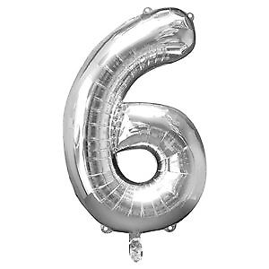 Giant Number 6 Balloon