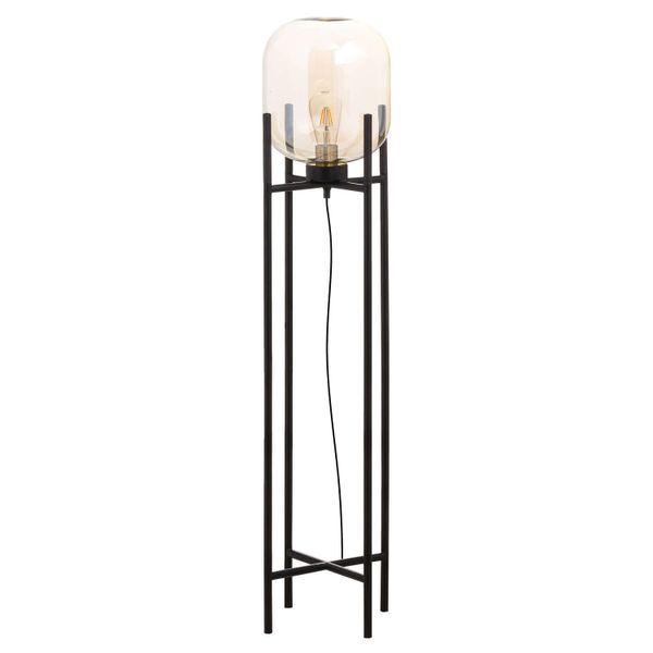 Large Vintage Industrial Glass Glow Lamp