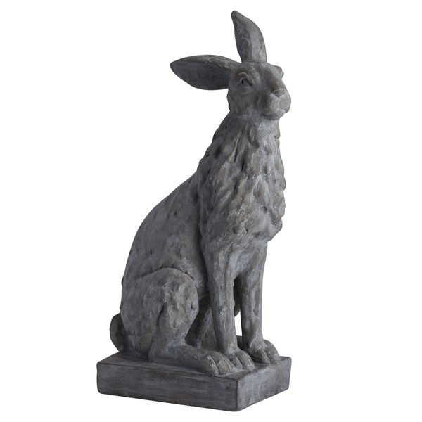 Large Sitting Outdoor Hare Statue 55cm