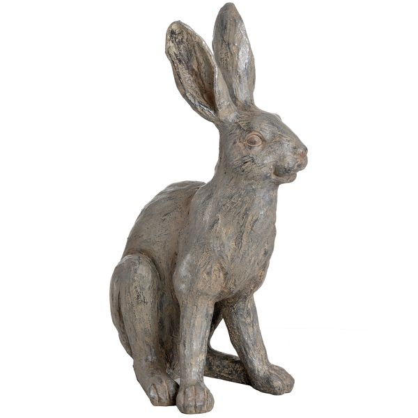 Large Metallic Hare Statue 46cm